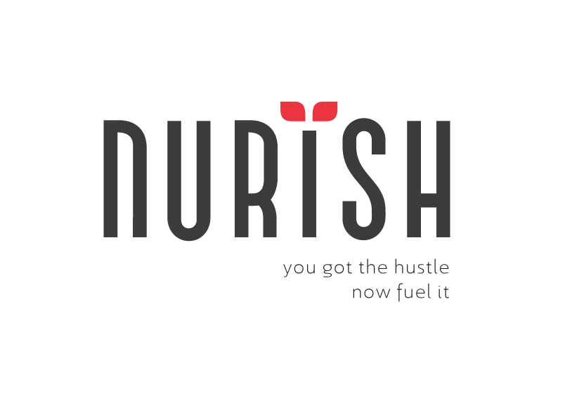Nurish logo and tagline