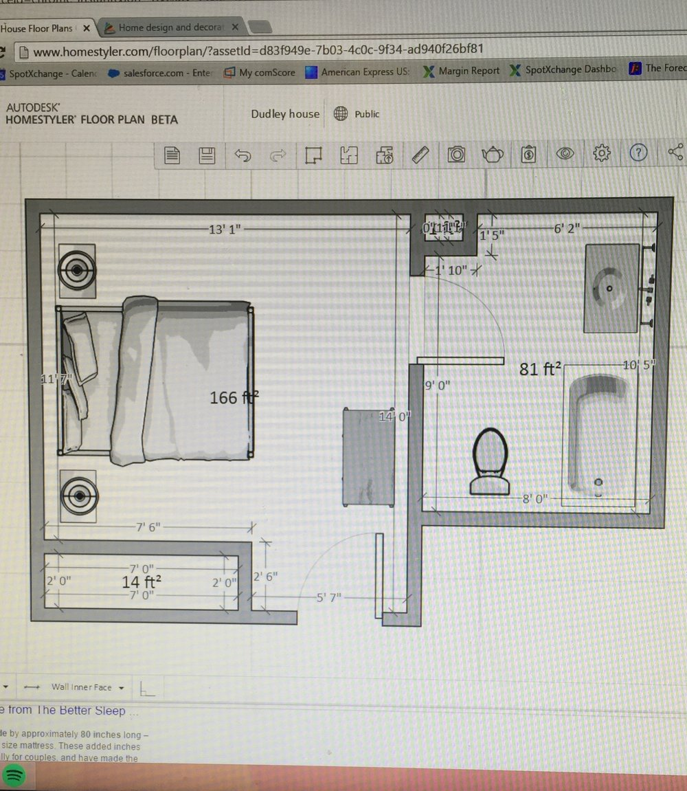 Bathroom/bedroom layout