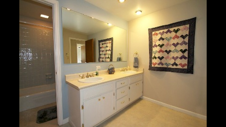 The guest bathroom that was added to the master bathroom and master closet.