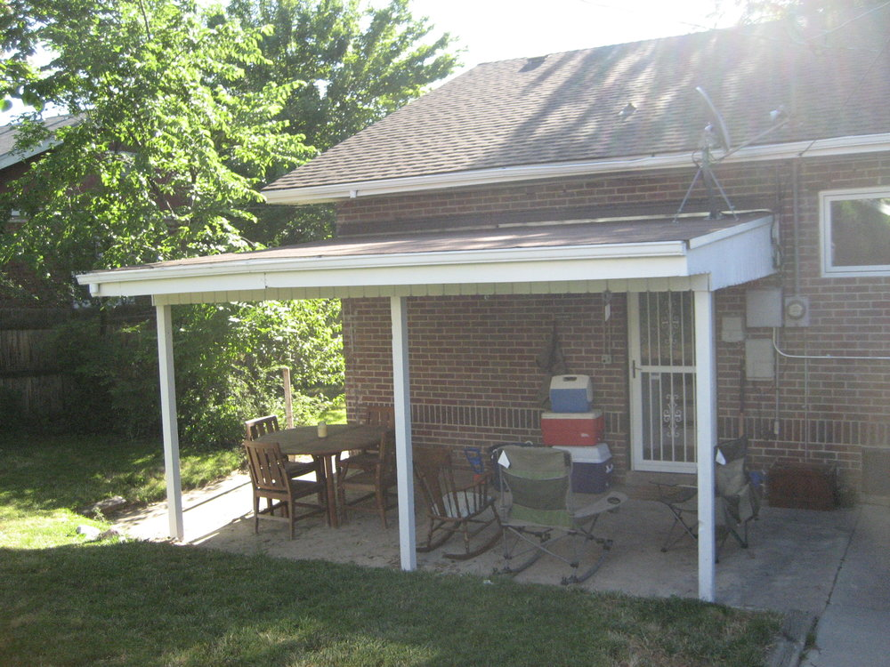 Old porch when we first moved in
