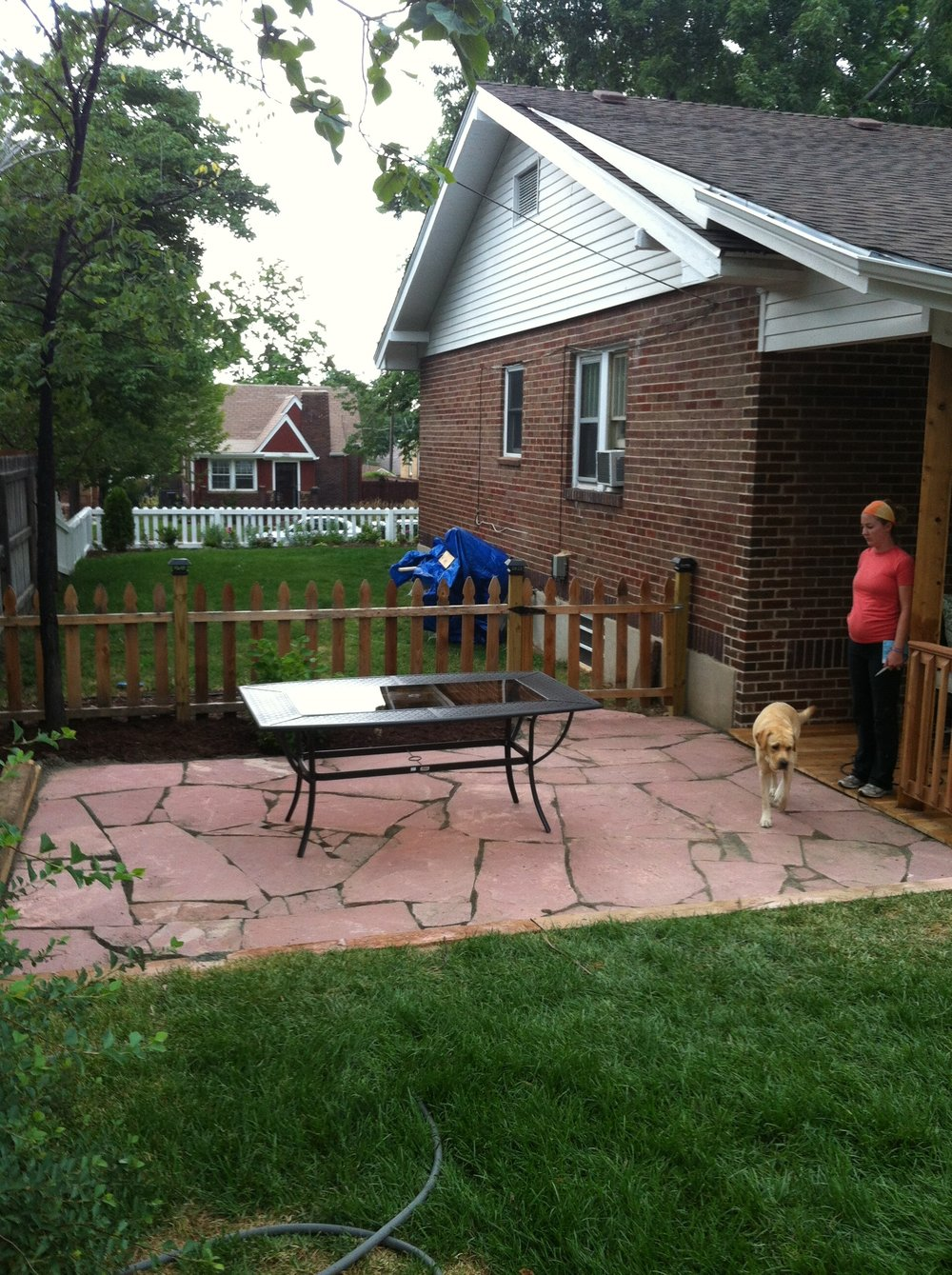 New fence and patio