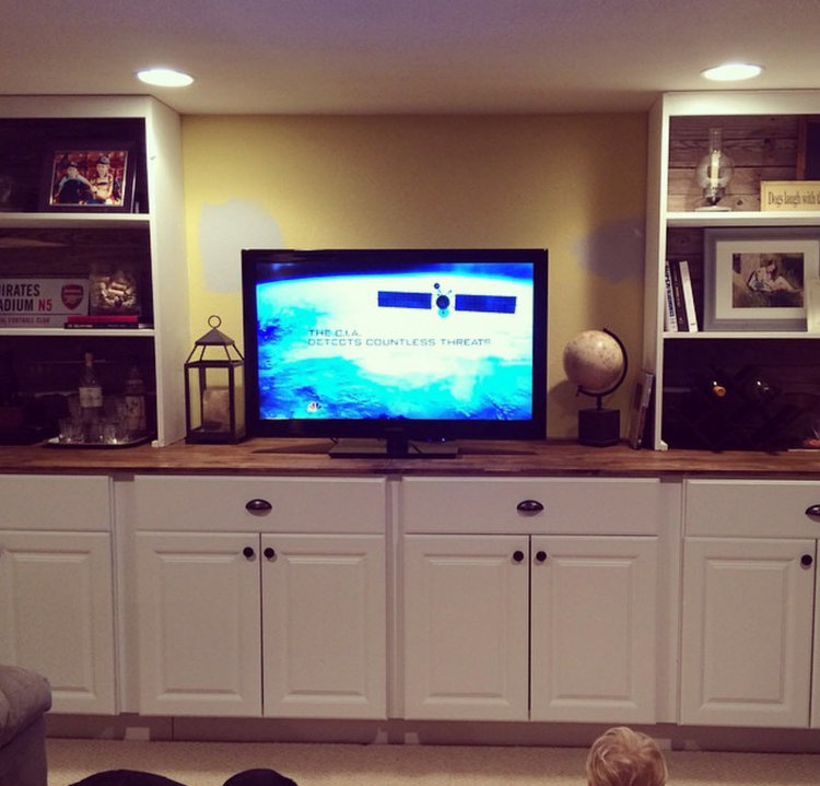Built-in TV unit & storage cabinet