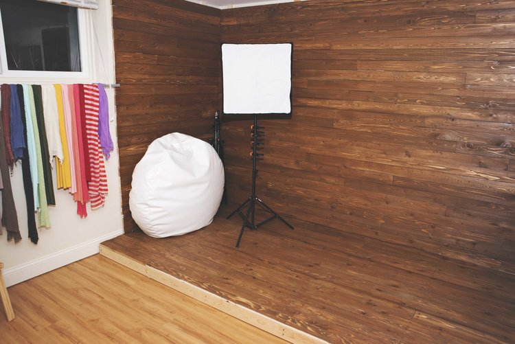DIY photography studio at home