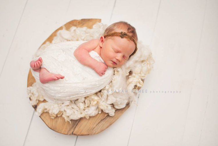 Newborn photos with DIY shiplap wall