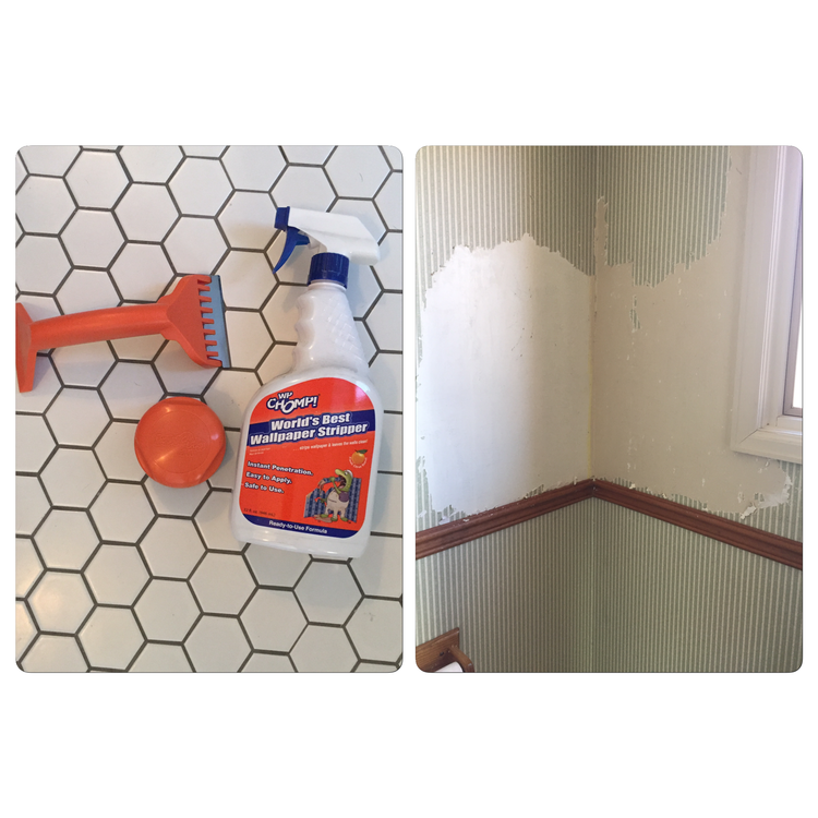 Week 1 of the half bath challenge - removing wallpaper