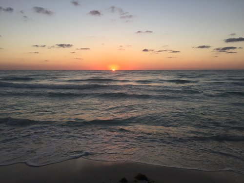 The sunrise in Tulum