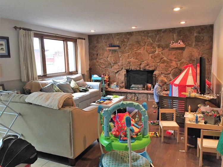 Disorganized playroom