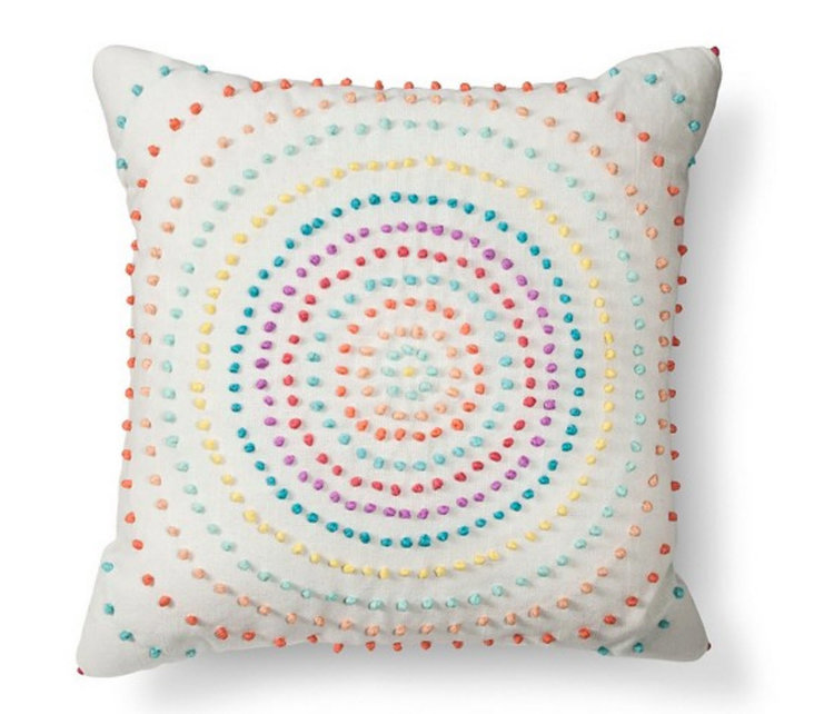 Colorful pillow for the playroom