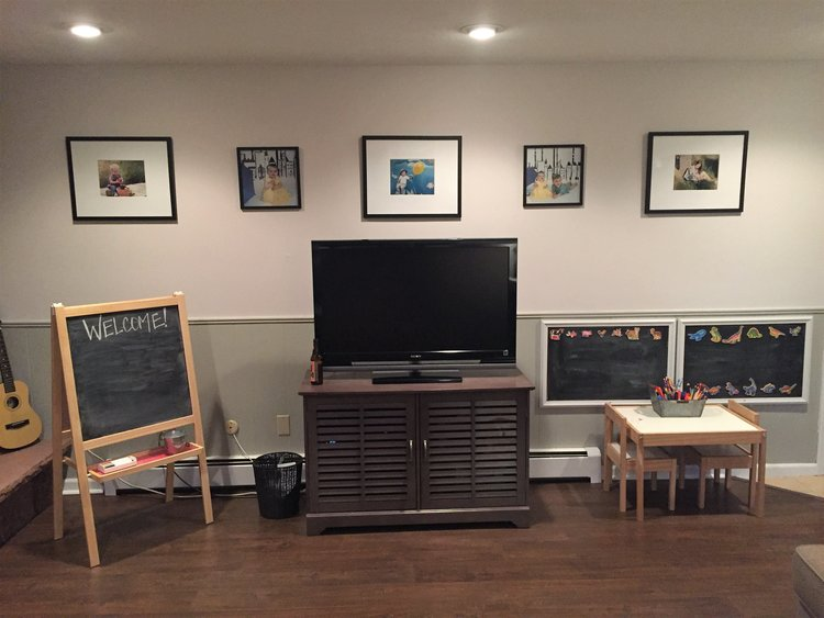 Gallery wall in the playroom