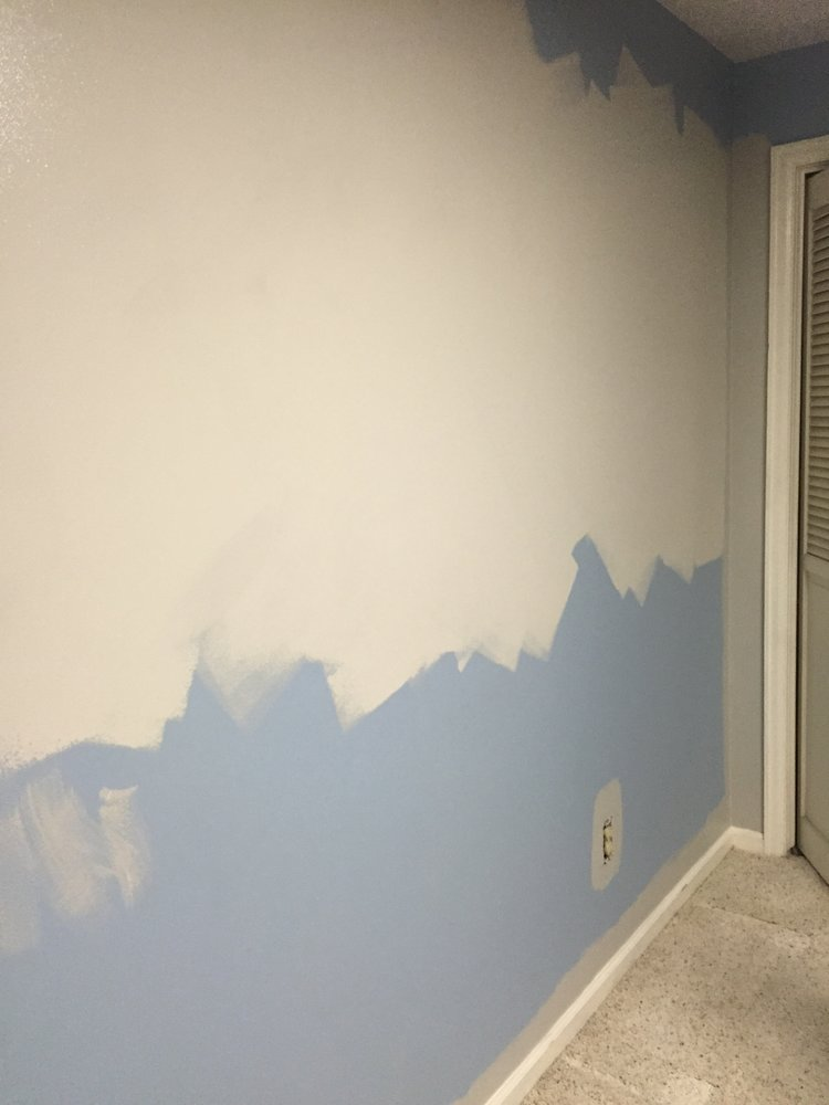 Painting a neutral wall color for the office