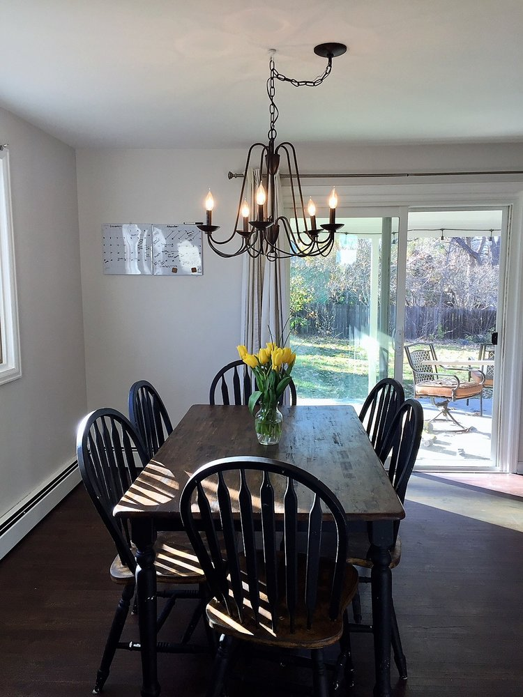Dining room chandelier from Lowes