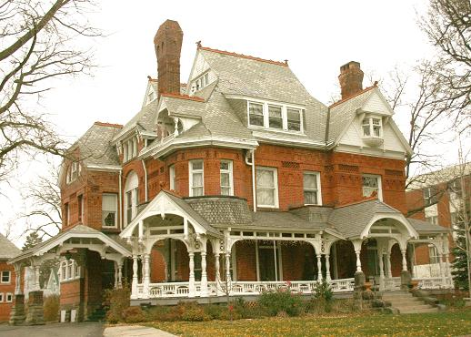 This is a mansion in the Old West End neighborhood.