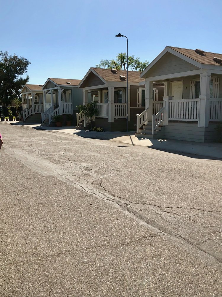 Mobile home park across from Disneyland