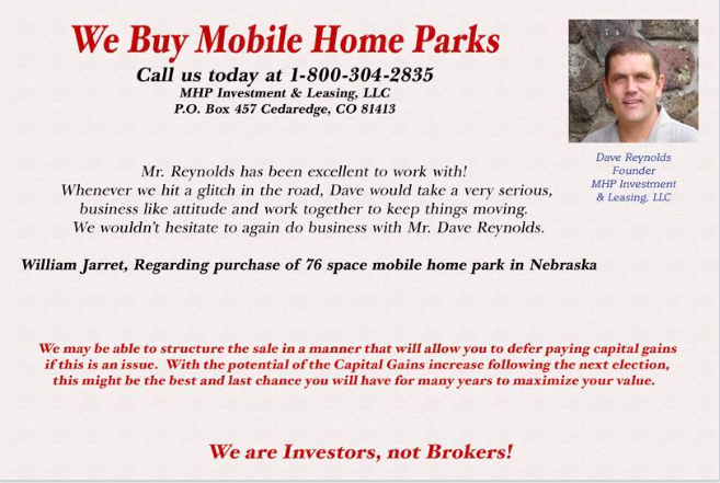 Mobile Home Park University postcard
