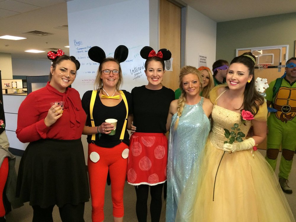 Disney characters for the halloween party