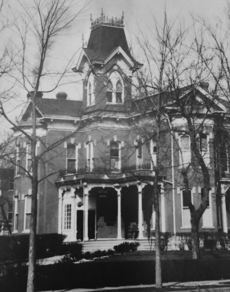 Old photograph of the Bosler House