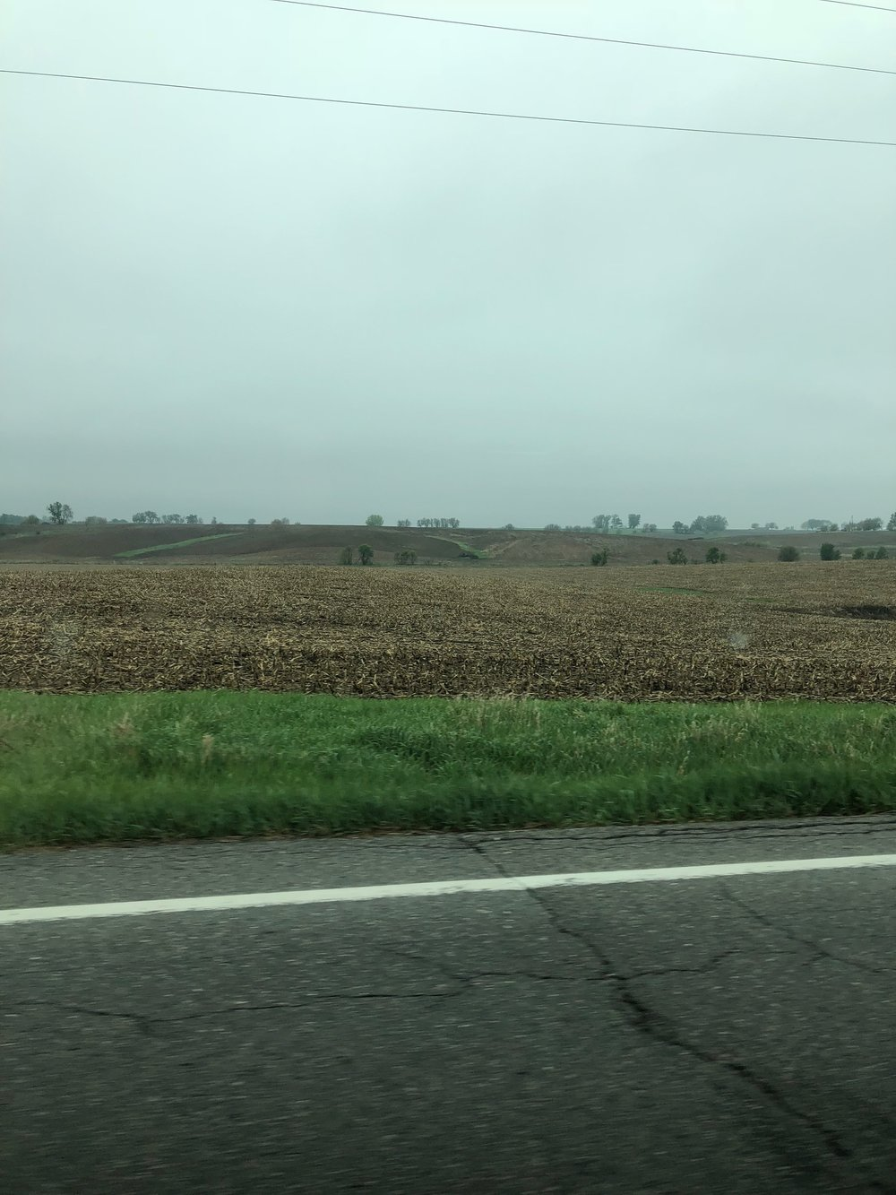 The Iowa farmland was beautiful!