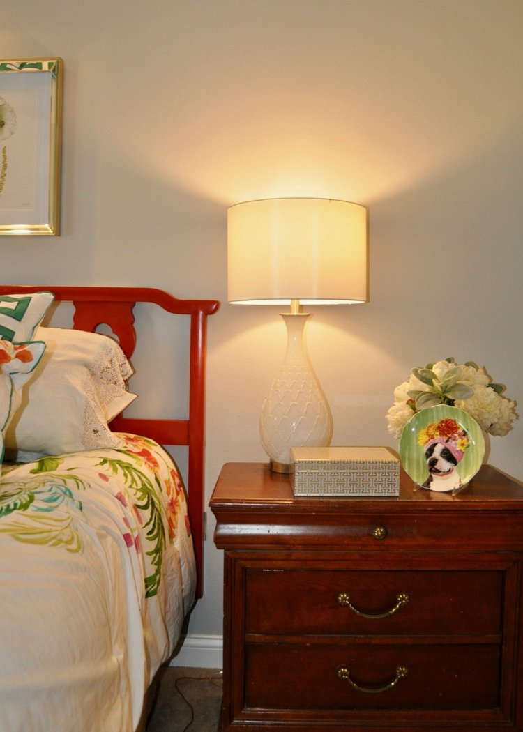 Nightstand staged