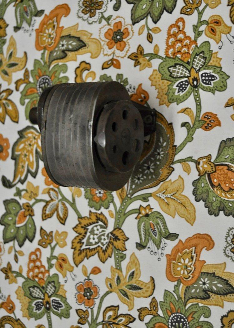 VIntage details like the old pencil sharpener