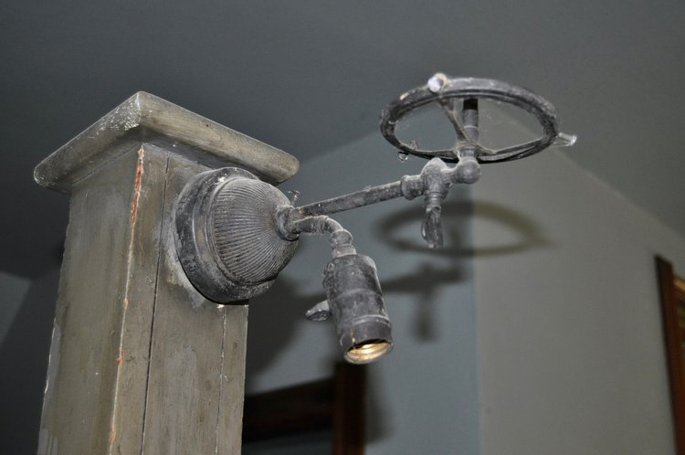 Vintage gas sconce in the Old West End