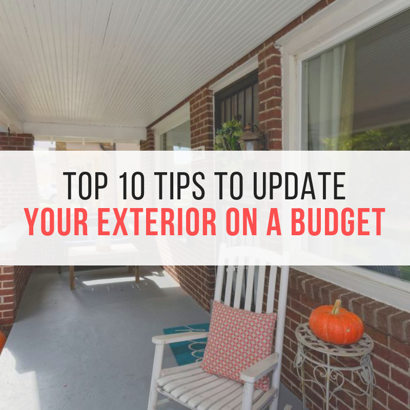 Top 10 tips to update your exterior on a budget | Building Bluebird