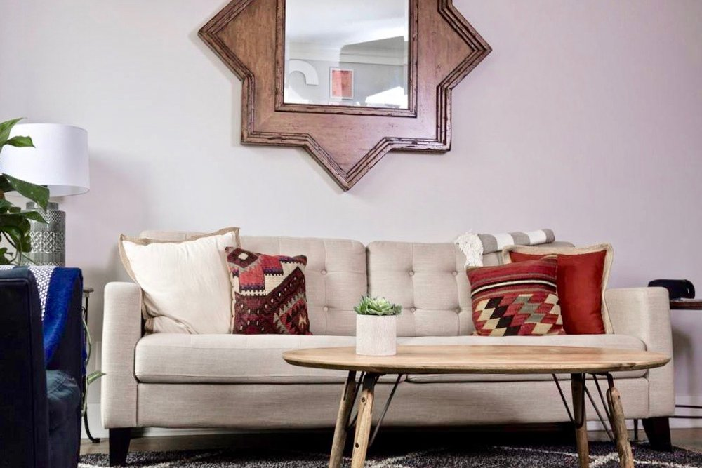 Stylish and functional living room