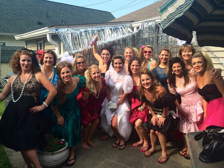 We celebrated my sisters 80's bridal party themed bachelorette party at the cottage!