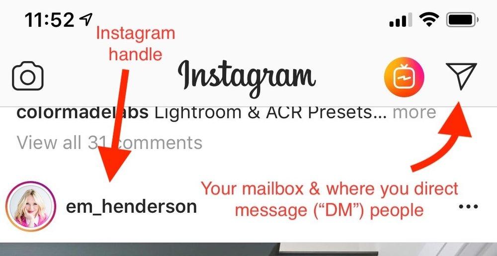 Instagram 101: Message box