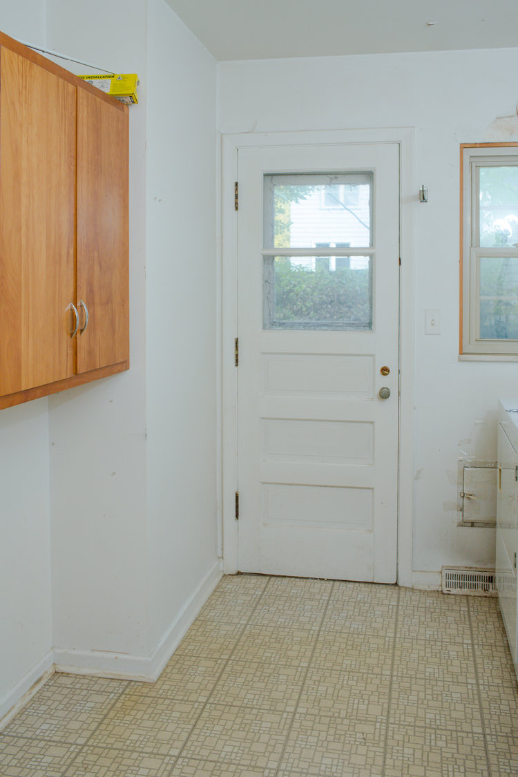 Before shot of the laundry room