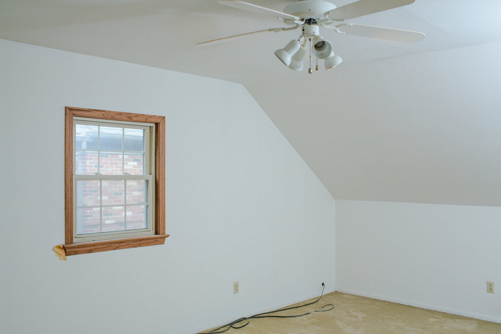Before shot of the master bedroom