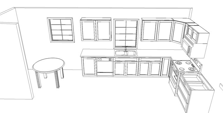 Cabinet layout for Drummond Flip House