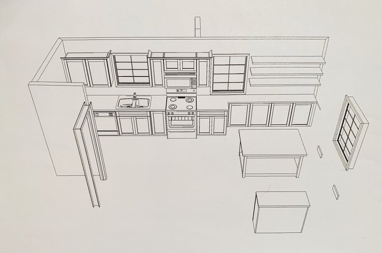 Kitchen layout 2 - the table