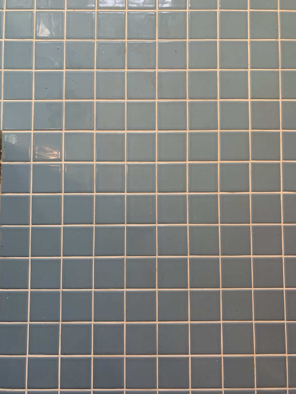 Scrubbing the grout and original tiles of the #drummondfliphouse