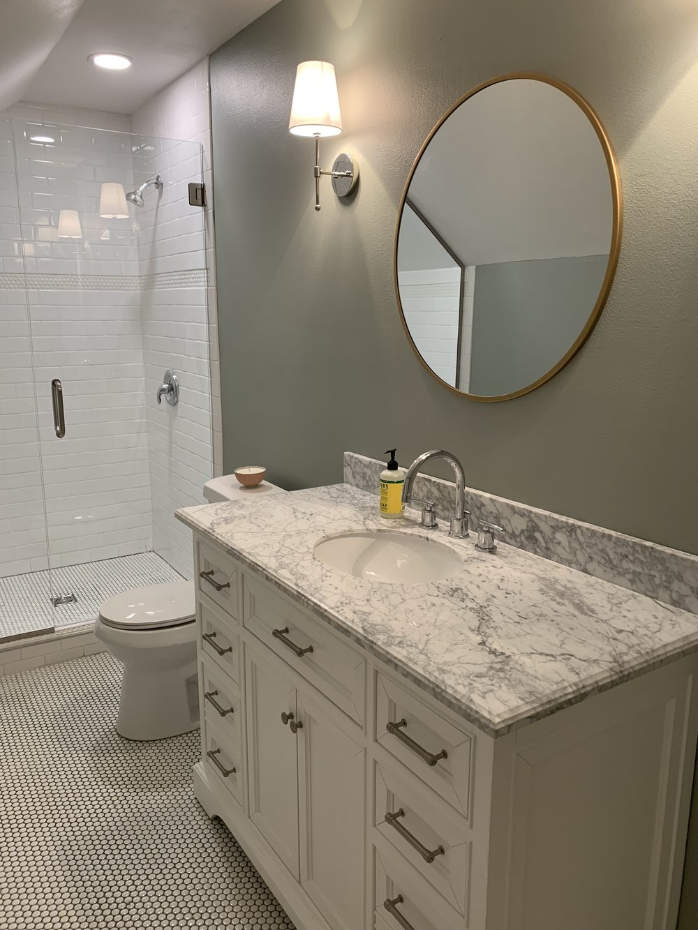 Upstairs renovated bathroom