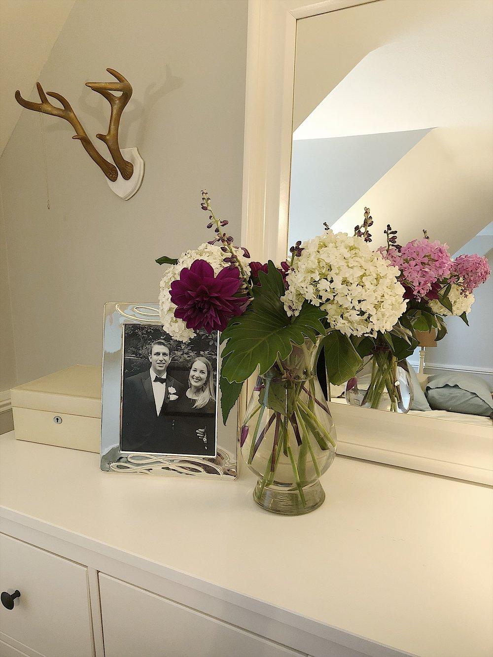 A beautiful arrangement Deb made for me last summer