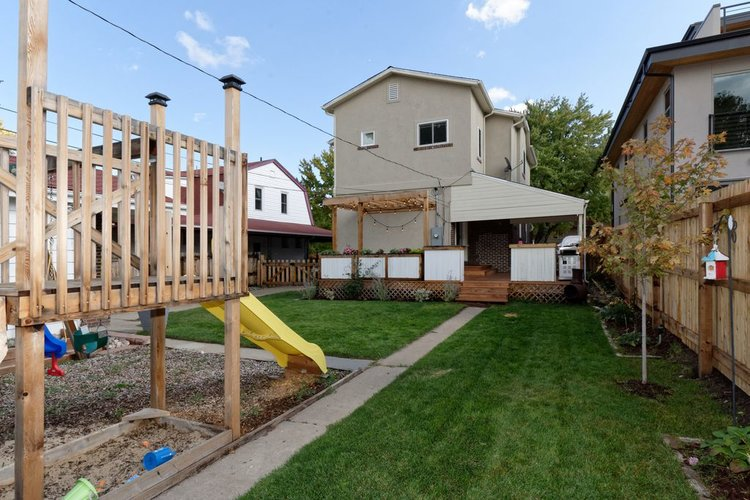 Backyard before and after transformation