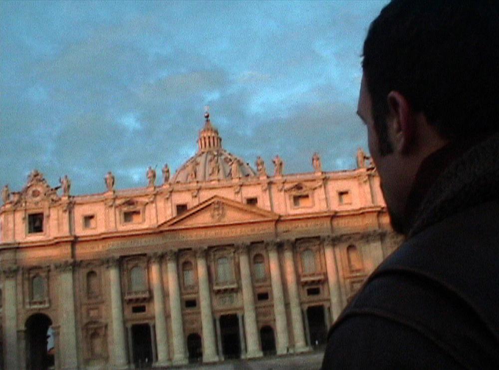 Davanti alla basilica di San Pietro
