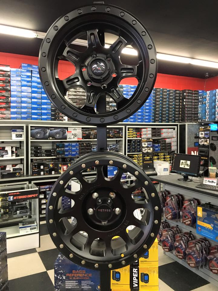 Get new car wheels at Stereo Depot San Diego