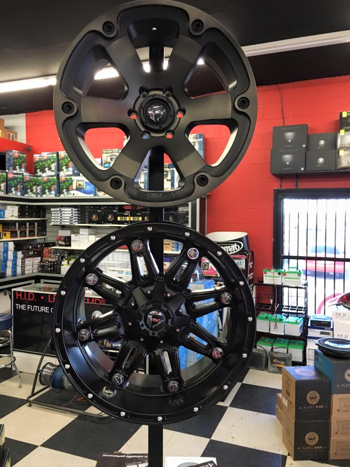 Get a new set of tires at Stereo Depot
