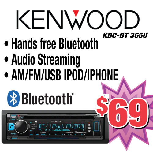 If you want a great deal on a Kenwood stereo come to Stereo Depot in El Cajon and San Diego. We offer a Kenwood bluetooth speaker for only $69!