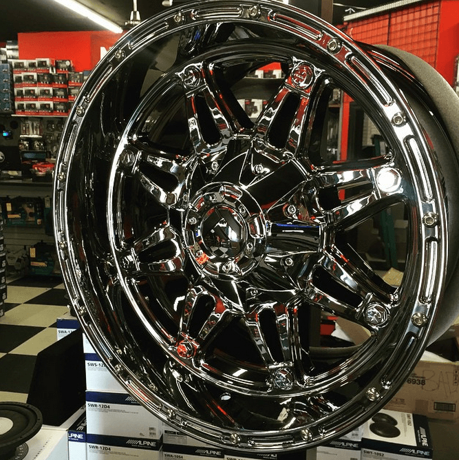 Sick new rims at Stereo Depot in San Diego & El Cajon