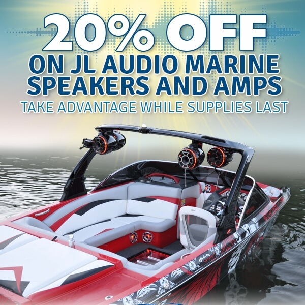 Save on JL Audio marine audio.