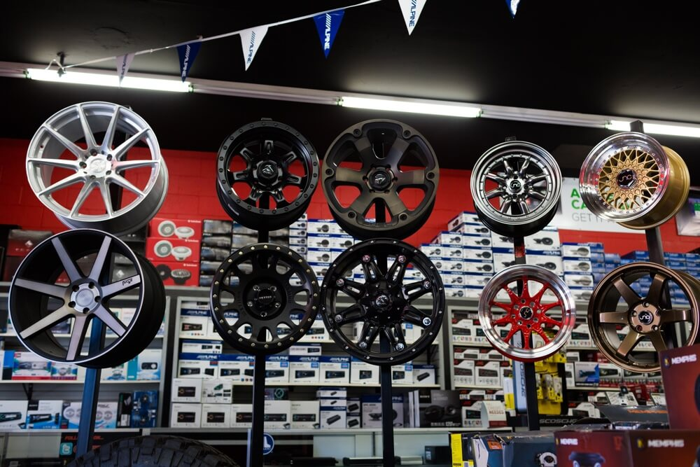 Car Rims and Wheel Installation at Stereo Depot