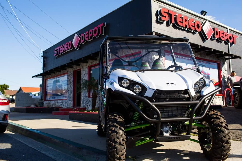 Stereo Depot is a certified Polaris RZR custom shop that can install music on your Polaris Razor. Bring your Polaris RZR in to Stereo Depot in San Diego or El Cajon.