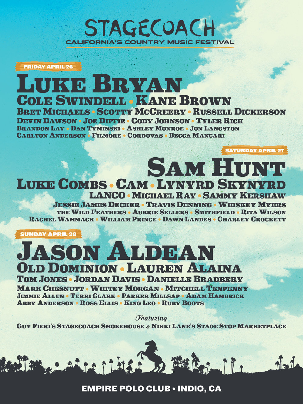 CATCH US AT… - Stagecoach Country Music Festival 2019!