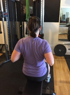 Rows have helped Brenda create healthy and happy shoulders. Something any volleyball player would love.