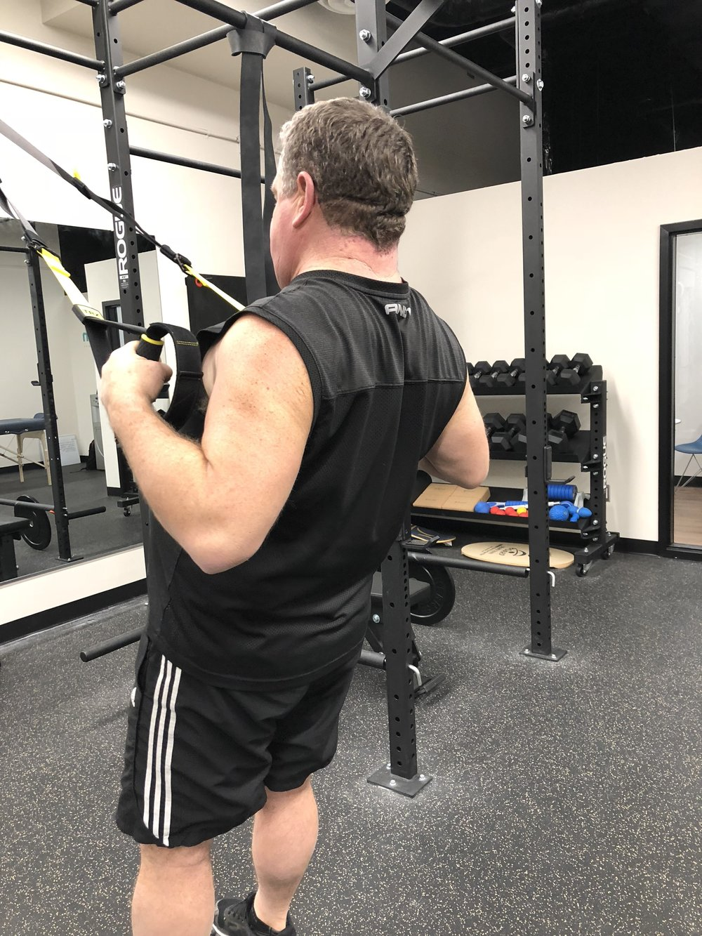 Jeff has turn out to be one of our more advanced lifters, in spite of a shoulder, neck and knee injury.