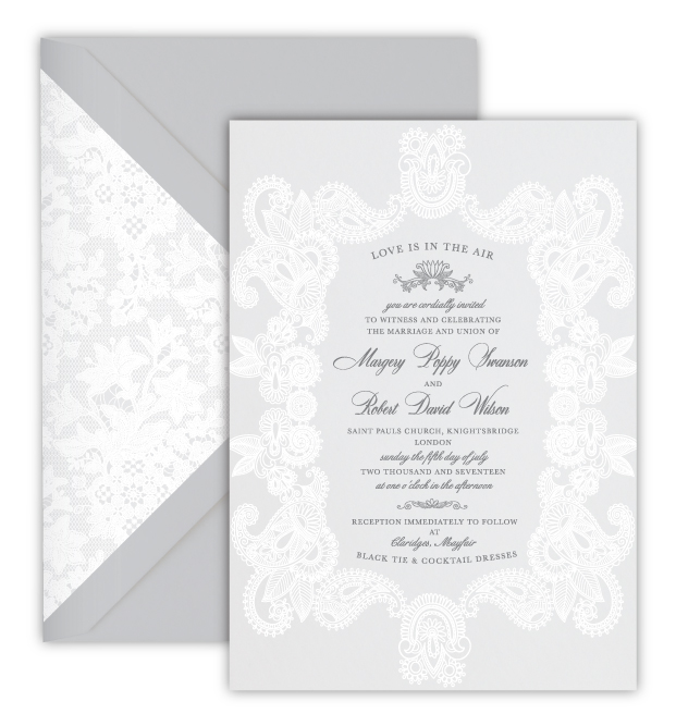 Margery Luxury Foil Letterpress Wedding Invitation