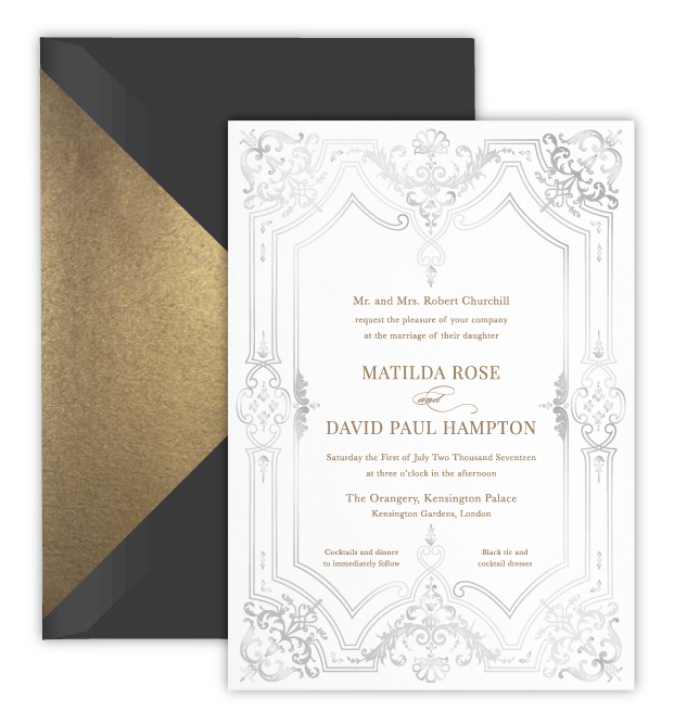 Matilda Luxury Foil Letterpress Wedding Invitation