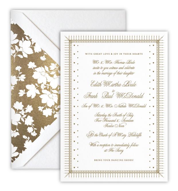 Edith Luxury Foil Letterpress Wedding Invitation